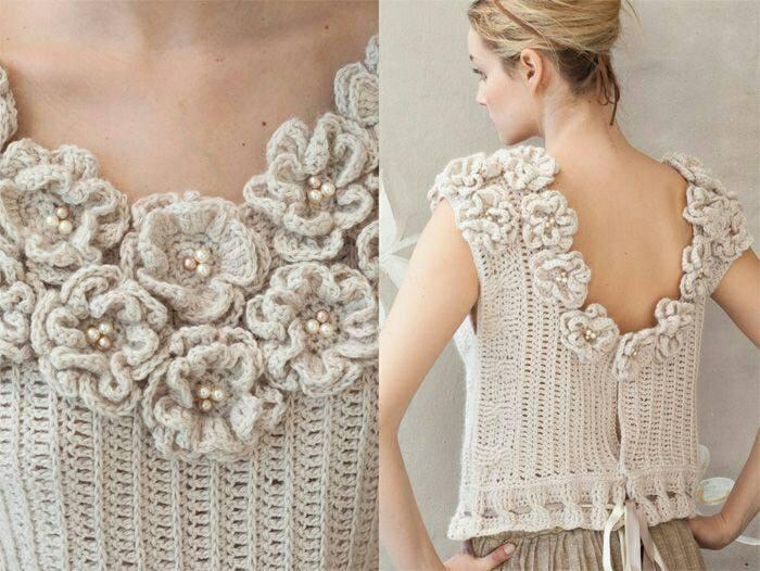 Amazing Vogue Crochet Top Graziela Leah Knits Crochets