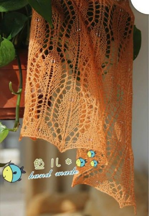 leaf lace scarf