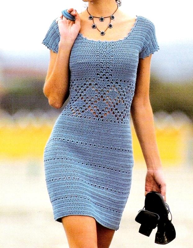 Летнее платье связать