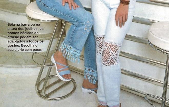 crochet on jeans